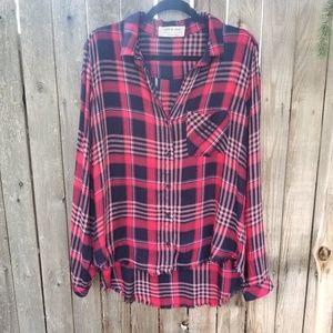 Anthropologie cloth & stone  button down flannel